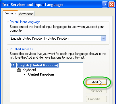 add keyboard language